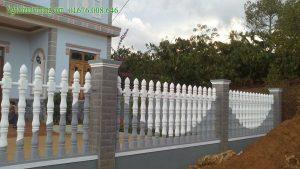 Hàng rào bê tông trang trí