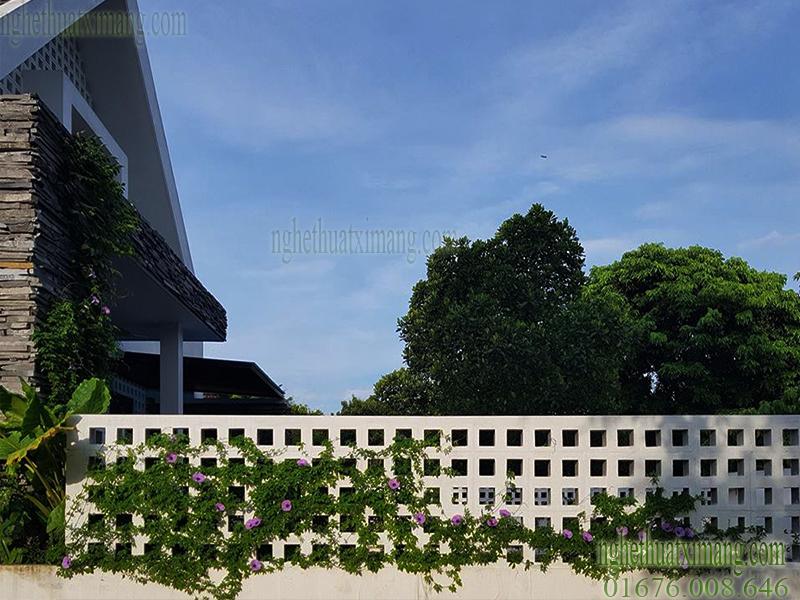 Tường rào đẹp và hiện đại hơn khi dùng gạch thông gió trang trí