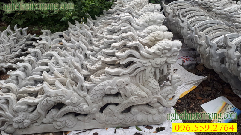 Hình ảnh con rồng trên mái chùa